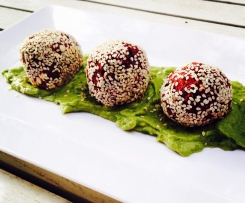 Beetroot and Blackbean Balls
