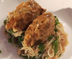 Asian style chicken dumplings - Varoma complete meal