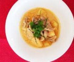 Red Curry of Pork with Pineapple and Ginger