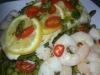 Steamed Fish with Vegetables, Chili, Lemon and a Basil Vinaigrette