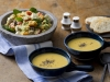 Italian chicken and couscous salad with chickpea soup