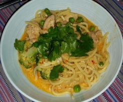 Red Thai Chicken Curry with Noodles