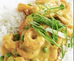 Sweet curried prawns