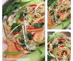 Asian Inspired Steamed Salmon