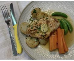 Chicken & Potatoes w Lemon Caper Butter using Egg Boiler Mode
