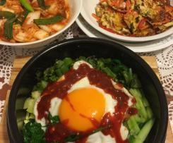 Korean Bibimbap (Mixed Rice with Meat and Assorted Vegetables)