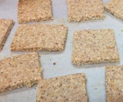 LCHF Sesame Parmesan Crackers