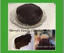 Merryl's Family Chocolate Cake