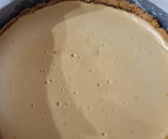 Caramilk baked cheesecake