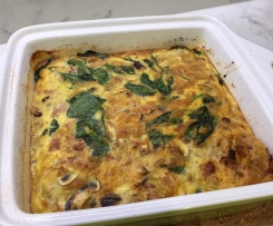 Baked breakfast frittata (Dairy free)