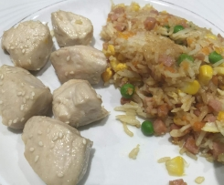 Varoma Honey Chicken and Non-Fried Rice
