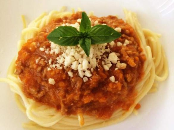 Spaghetti Bolognese Mince Cooked In Steaming Basket By Aussie Tm5