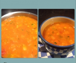Clean out the fridge vege soup