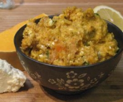 Pumpkin and feta dip