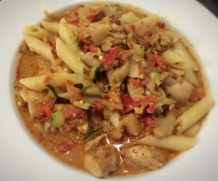 Chicken Fajita Pasta DF - See tips for GF