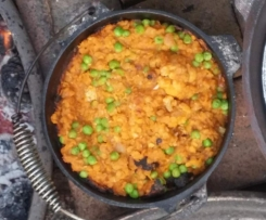 Lentil and Cauliflower Dahl in the Camp Oven
