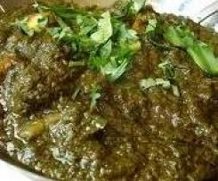 Saag Gosht - Mild Lamb Curry (Paleo, Gluten-free, Dairy-free, Egg-free,)