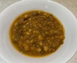 Lentil and chickpea soup
