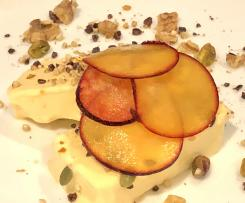 Citrus mascarpoen semifreddo with Manjimup walnut and cacao nib dukkah - Chef Russell Blaikie
