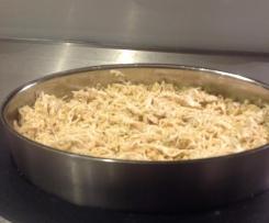 Brown rice with garlic chicken