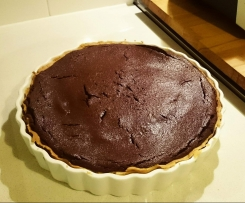 Baked Chocolate Tart - Jamie Oliver Inspired