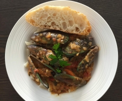 Mussels in a Red Sauce soup