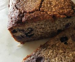 Paleo Banana and Blueberry Bread
