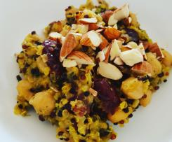 Adaption of Ambitious Kitchen's Moroccan Chickpea Quinoa Salad