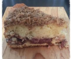 PLUM TEA CAKE WITH CRUMBLE TOPPING