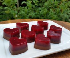 Gut-nourishing choc-berry jellies - Kyra Miles