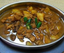 Chicken Pongteh (stewed chicken in fermented soyabean sauce)