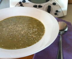 Spiced Zucchini & Rice soup