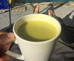Golden Milk (with fresh ginger and turmeric)
