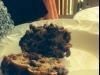 Chocolate Mocha Christmas Puddings with Brandy custard