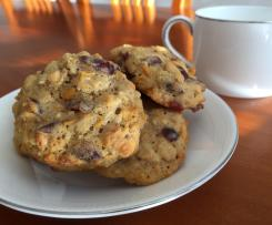Pumpkin & Cranberry Cookies (Sugar free)