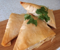 Pumpkin & Ginger Filo Triangles