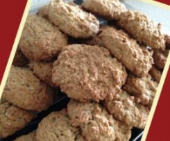 Banana,oat & nut biscuits