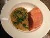 Maple Glazed Salmon with Coconut Barley Risotto