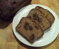 Banana bread with dates and walnuts - dairy and gluten free