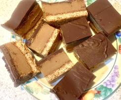 Choc Caramel Slice- made with Caramel Condensed Milk.