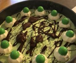 Choc mint cheese cake