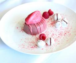 Pretty in pink - ruby chocolate dessert