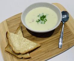 Cauliflower, Bacon and Parmesan Soup