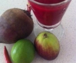 Beetroot, Fig, Lime, Pear, Ginger and Chilli Juice
