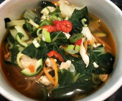 Asian Chicken Vegetable Noodle Soup