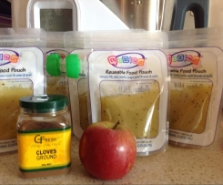 Apple, kiwi and Clove Puree (for reusable pouches)