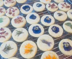 Janine's Flower Citrus biscuits - Thermie and Friends
