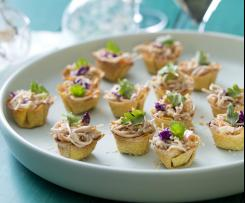 Peanut and Soba Noodle Wonton Cups