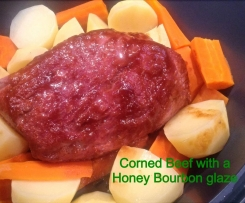 Pimped Up Silverside or corned beef with a honey bourbon glaze