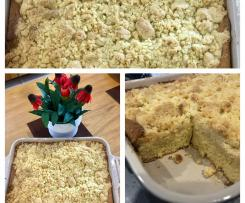 Heidi's German Streusel Kuchen (Crumble cake) yeast free version